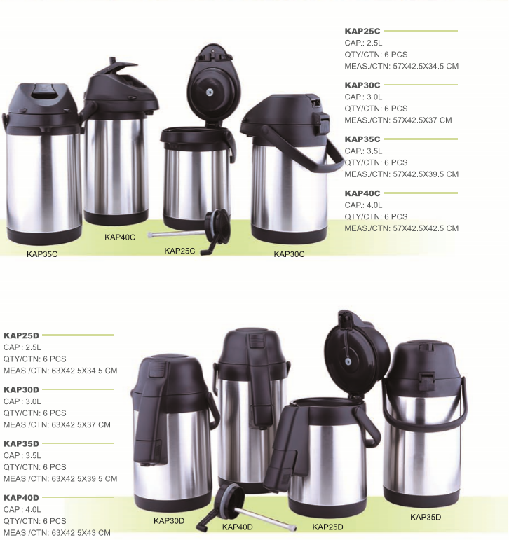 Golden Ware Household Outdoor Travel Large Capacity Stainless Steel Kettle Coffee Hot Water Vacuum Pot