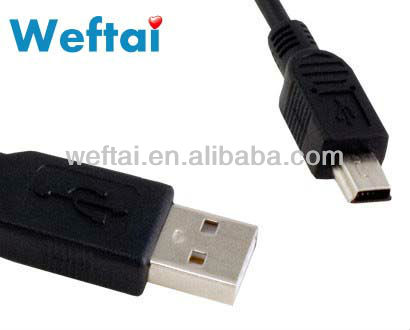 USB 2.0 AM to Mini 5P Round Cable