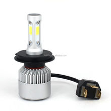 ROHS approved 16000lm H4 H7 360 degree S2 led headlight bulb COB len auto led lights for all car