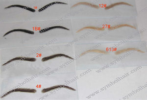 In stock human hair false eyebrow