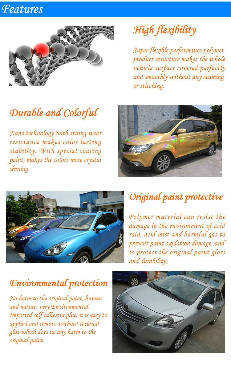 Colour changing car technology - Pfidi Rainbow Iridescent Car Wrap Film With Bubble Free Purple Car Color Changing Vinyl Film