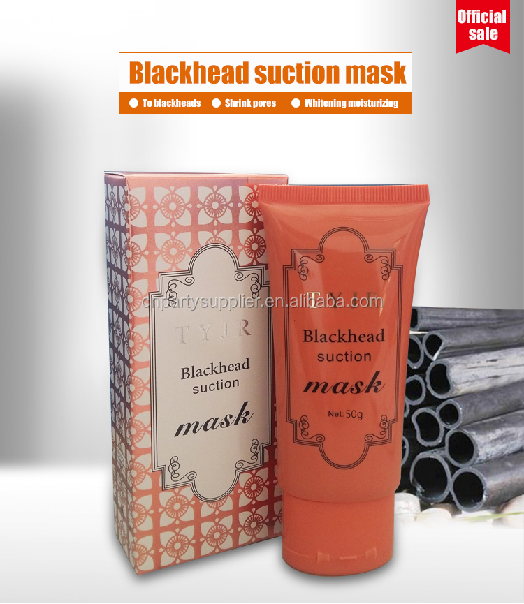 TYJR Blackhead Suction Mask Deep Cleansing Blackhead Remove Peel Off Charcoal Black Mask 60g