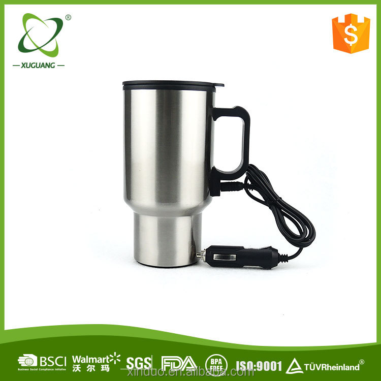 China Supplier Wholesale Amazon ebay website electric plug stainless steel car metal gift travel mug