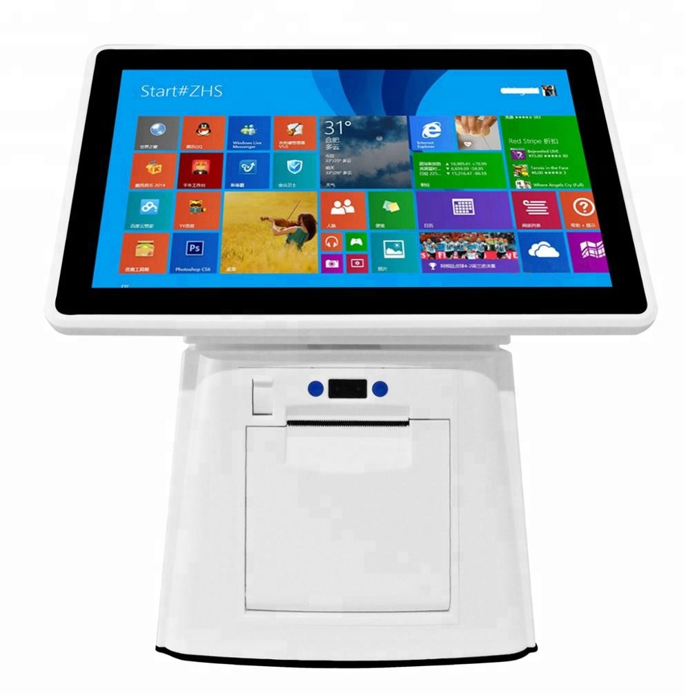 Kosteneffectieve Android/Windows POS systeem met 57mm printer 11.6 inch touch kassa elektronische bestelsysteem machine