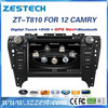 car dvd navigation for Toyota Camry 2012 car dvd navigation system with audio dvd player ZT-T810