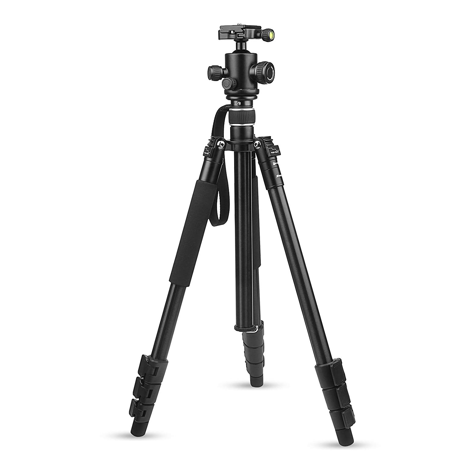 D&F Professional CNC Aluminum Flexible Tripod with Monopod Ball head For Camera Video Camcorder-Large size