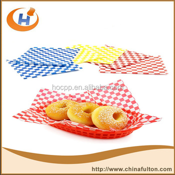 red check dry wax paper deli wrap and basket liner buy red check