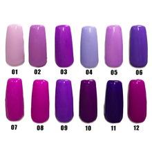 Free shipping Noble Purple Series 6pcs Inail Gel Nail Polish 15ml 12 colors for choice