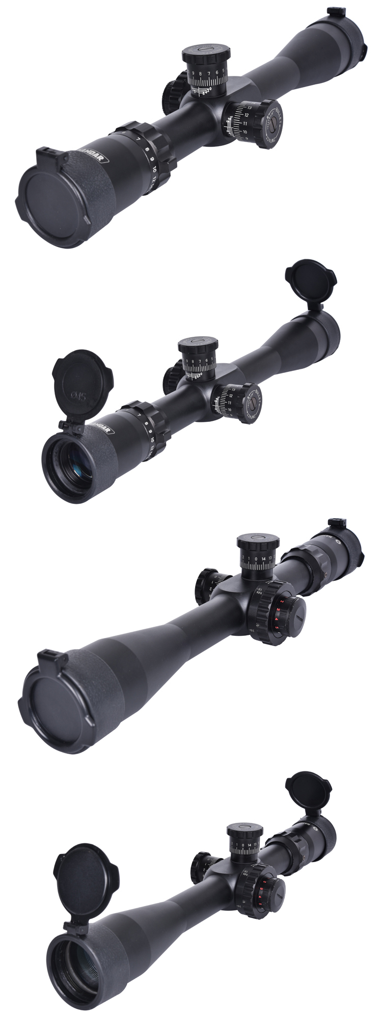 6-24x44 Long Range Target Shooting Riflescope First Focal Plane Airsoft Sight Red and Green Illuminated Optics Scope