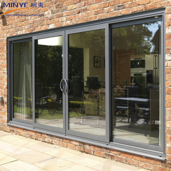2108 New Design Tempered Glass Sliding Door Aluminum Sliding Patio
