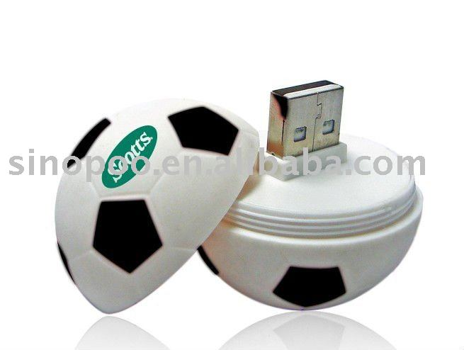 64mb-512mb football-shaped pvc usb flash drive