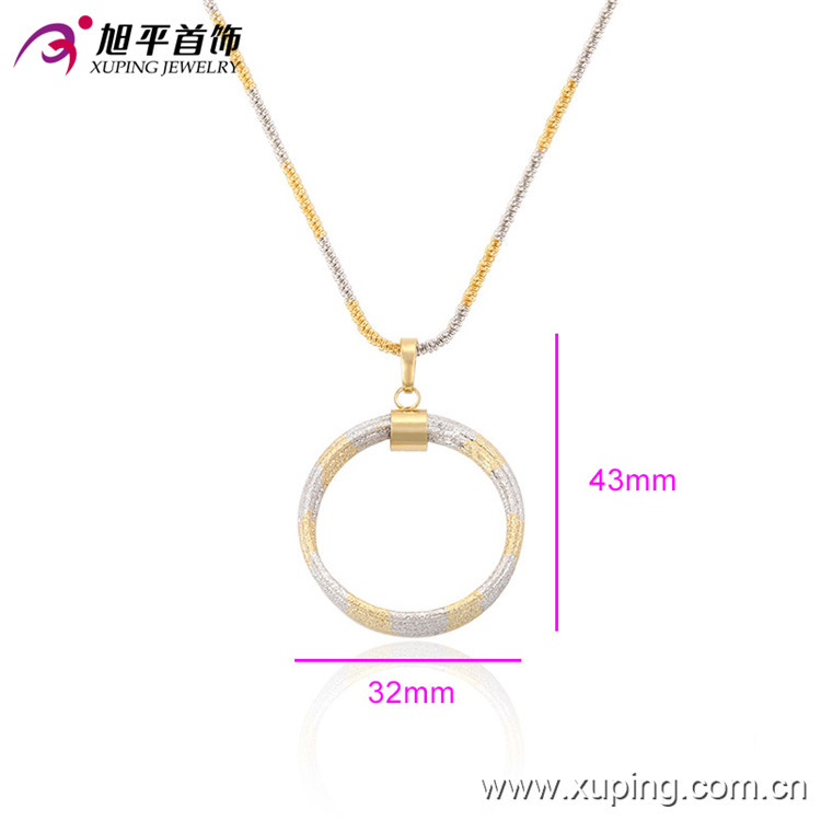 32357 Cheap no stone brass fancy circle pendant designs for girls