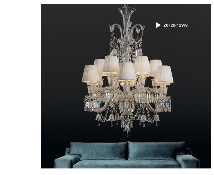 Baccarat Style Chandelier and Pendant Lights