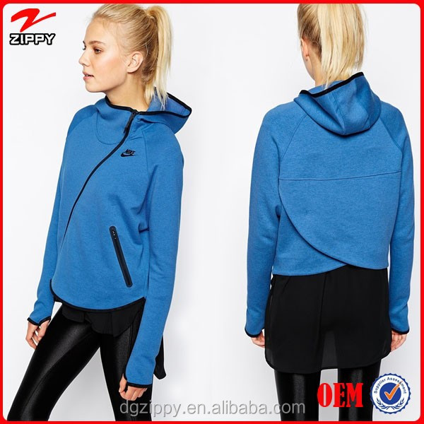 Asymmetric Zip Through Front Fashion Hoody China Online Shopping