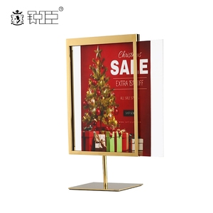Customized countertop poster display stand metal sign holder