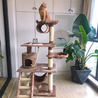 different color cat scratching play small tree sets cat house