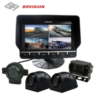BRvision 7 inch DVR Recording System Backup view/side view Camera BR-TQS7002-DVR