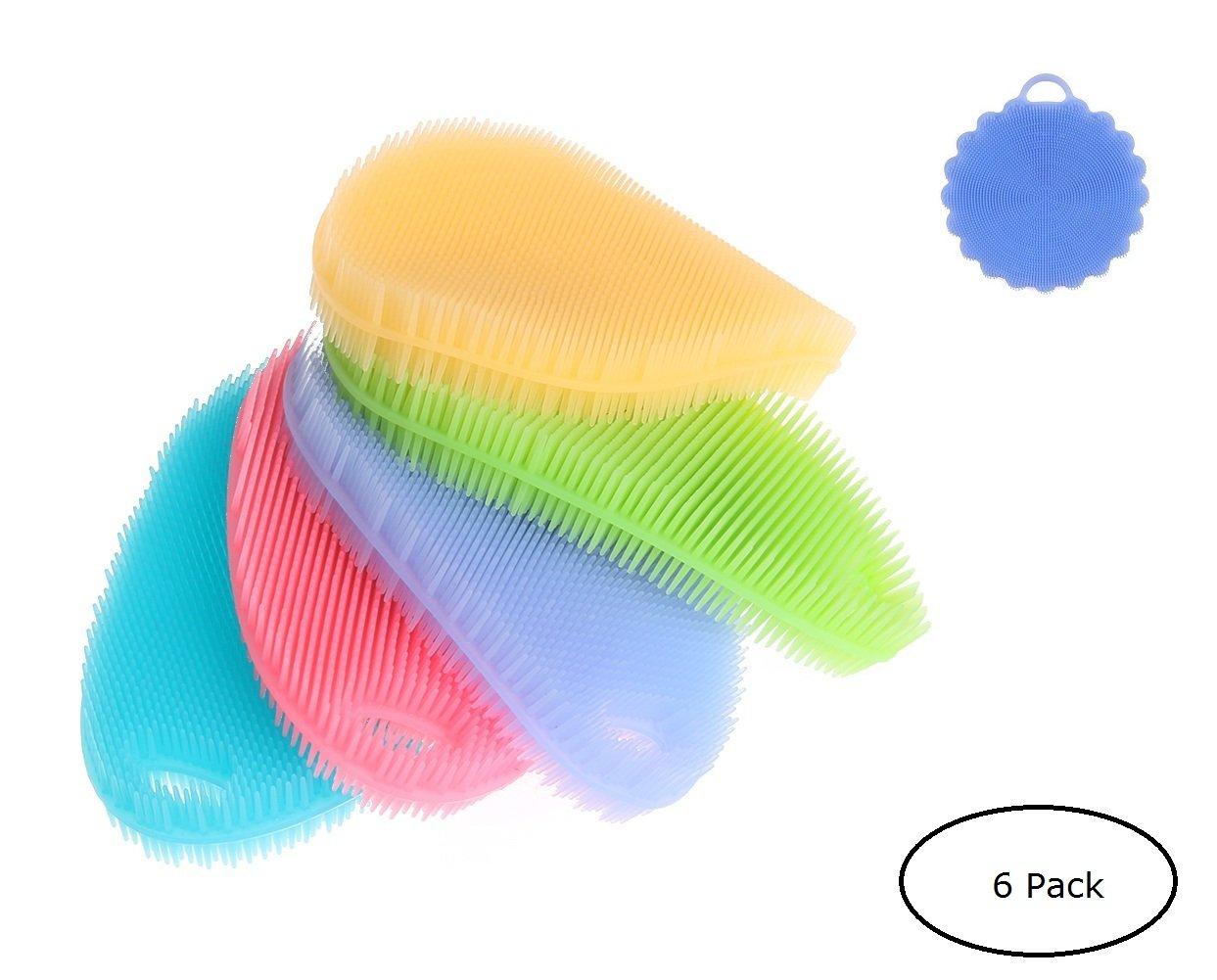 Dish washing Brush Dish Towel Silicone Washing Sponge Cleaning Washing Brush Scrubbers-Dish Fruit Bath Scrubbers Washing Brushes Silicone Bathing Brush - 2017 New Arrived WB01