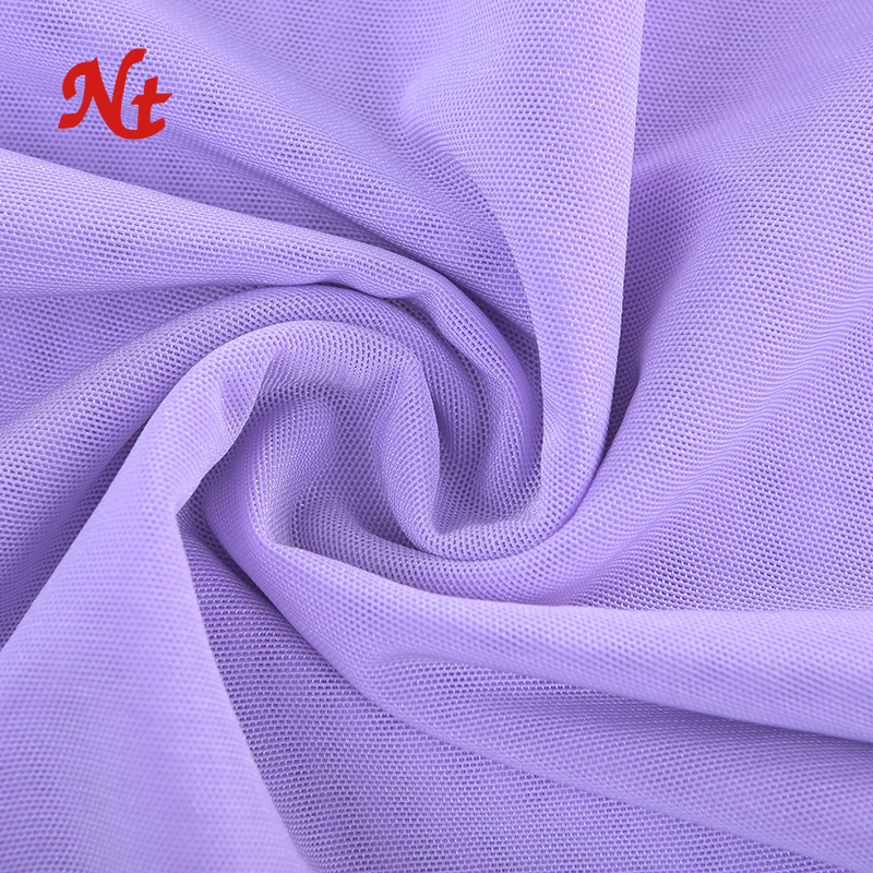 Guangdong Warp Knitted 4 Way Stretch Mesh Fabric 75Nylon 25Spandex Shiny Flashlight Fabric for Sportswear Garments Shapewears