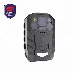 1296P with desktop charger 5200mah big battery long time standby Night Vision Built-in GPS GPRS SOS DVR Body Worn Camera