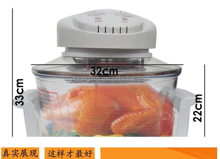 Oem 12l Heat Wave Oven Fryer With Air Temperature Glass