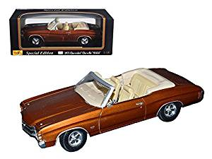 1971 Chevrolet Chevelle SS 454 Convertible Brown 1/18 by Maisto