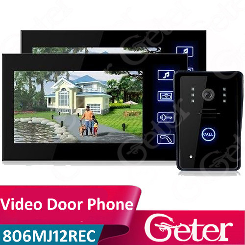 "7"" TFT Color LCD Video Door Phone Hands Free Visual Intercom Doorbell Video Record"