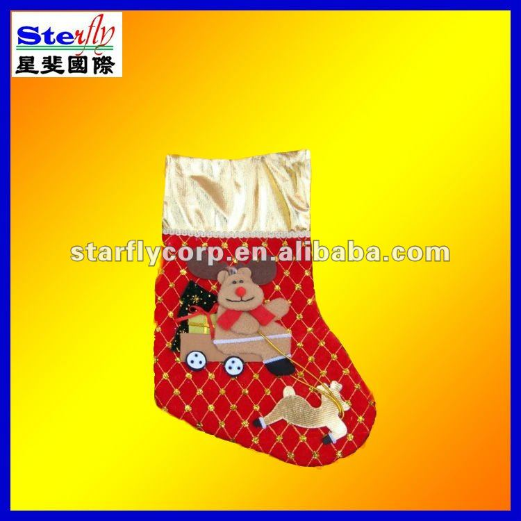 ST-FM76#cute snowman/animal pattern christmas/santa socks non-woven/plush/cotton