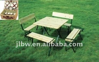 folding wooden picnic table sets