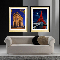 Creative paris modern wall pictures art canvas printings Triumphal arch building landscape canvas wall art for living room decor