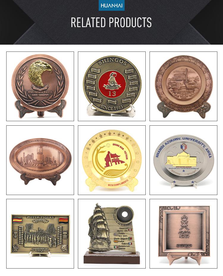 カスタムロゴ3dエンボス真鍮金属標札メーカー