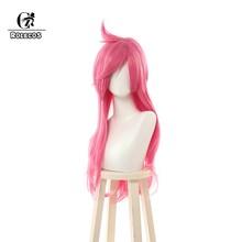 Головные уборы ROLEOCS LOL Katarina Cospaly, Длинные розовые синтетические волосы для женщин, 70 см(Китай)
