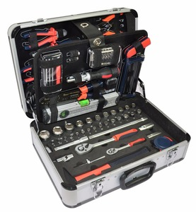 CROWNRICH 128pcs Tool Set Mechanics Complete Tool Kit Wrenches Socket
