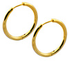 Pop star gold plated circle earring surgical steel big hoop earring