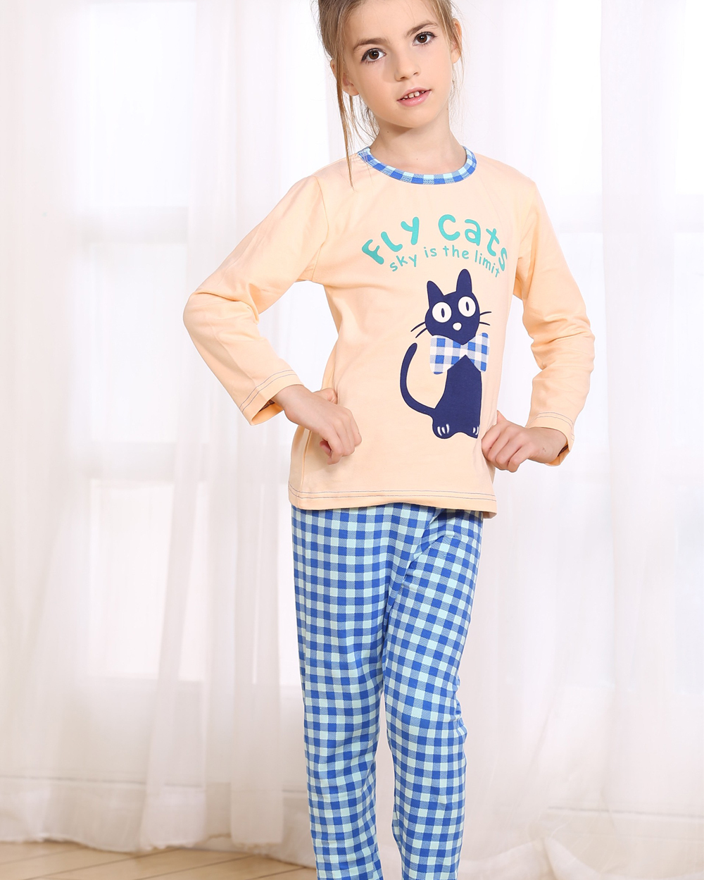 20b892c51c Buy Retail Cartoon Printed Girls Underwear Set for Spring  amp  Autumn Long  Sleeve Pajama Set 2015 New Girls Pyjamas Sleepwear Set Kids in Cheap Price  on ...