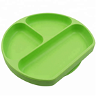 Feeding Bowls Dishes for Kids BPA Free Custom Silicone Suction Plate for Toddlers, Fits Most Highchair Trays