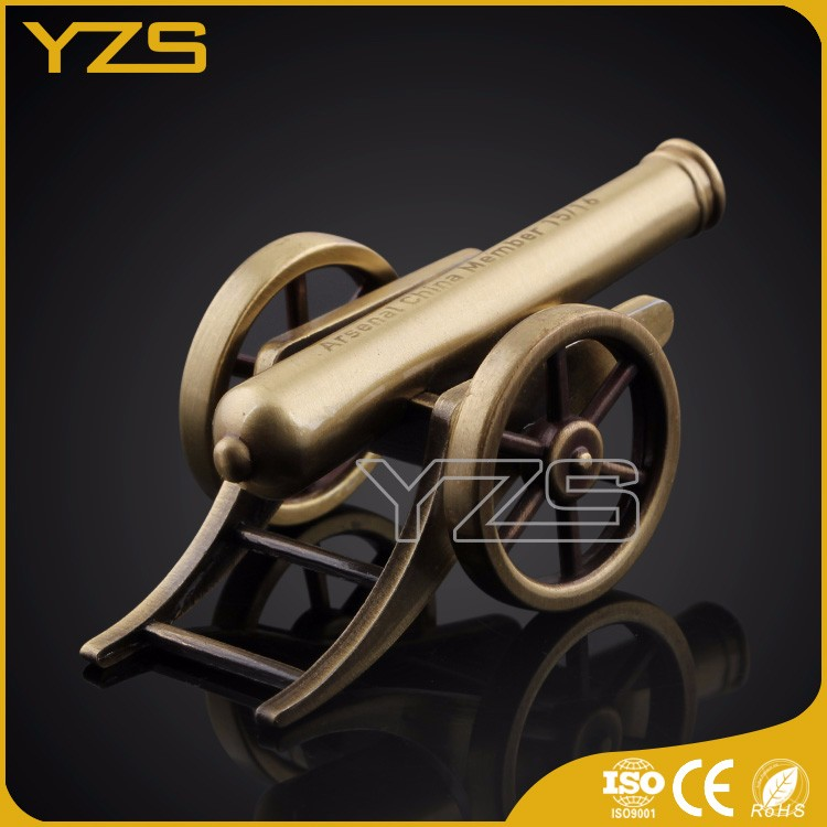 CE& ISO factory custom brass decorative cannon