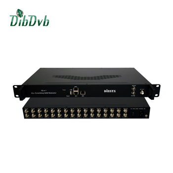 16 fta tuners dvb-s2 to dvb-c transmodulator with up to 16 qam channels mux and scrambling