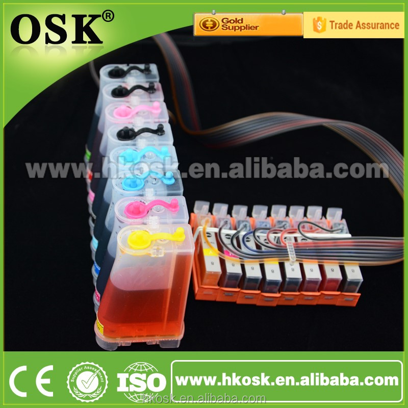 8 colours CISS Supply System for Canon PIXUS MP900 with auto reset chip