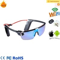 Full hd 1080p remote control wireless action video sports extral hd camera eye glasses wifi S62