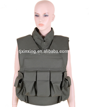 Military level IIIA aramid tactical female neck protection full body armor bulletproof vest