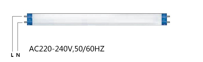 160LM/W 9W 0.6M VDE T8 LED Tube