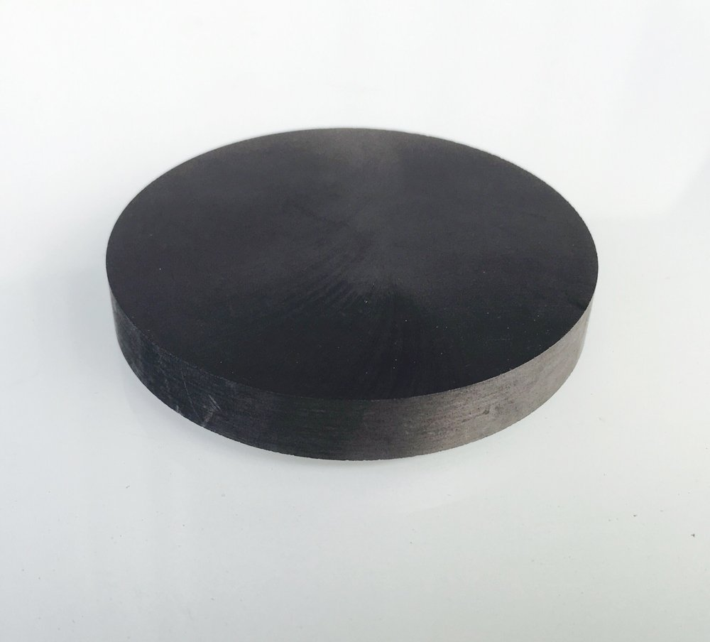 OTOOLWORLD 99.9% Purity Graphite Ingot Block EDM Graphite Plate Milling Surface (70MMx10MM)