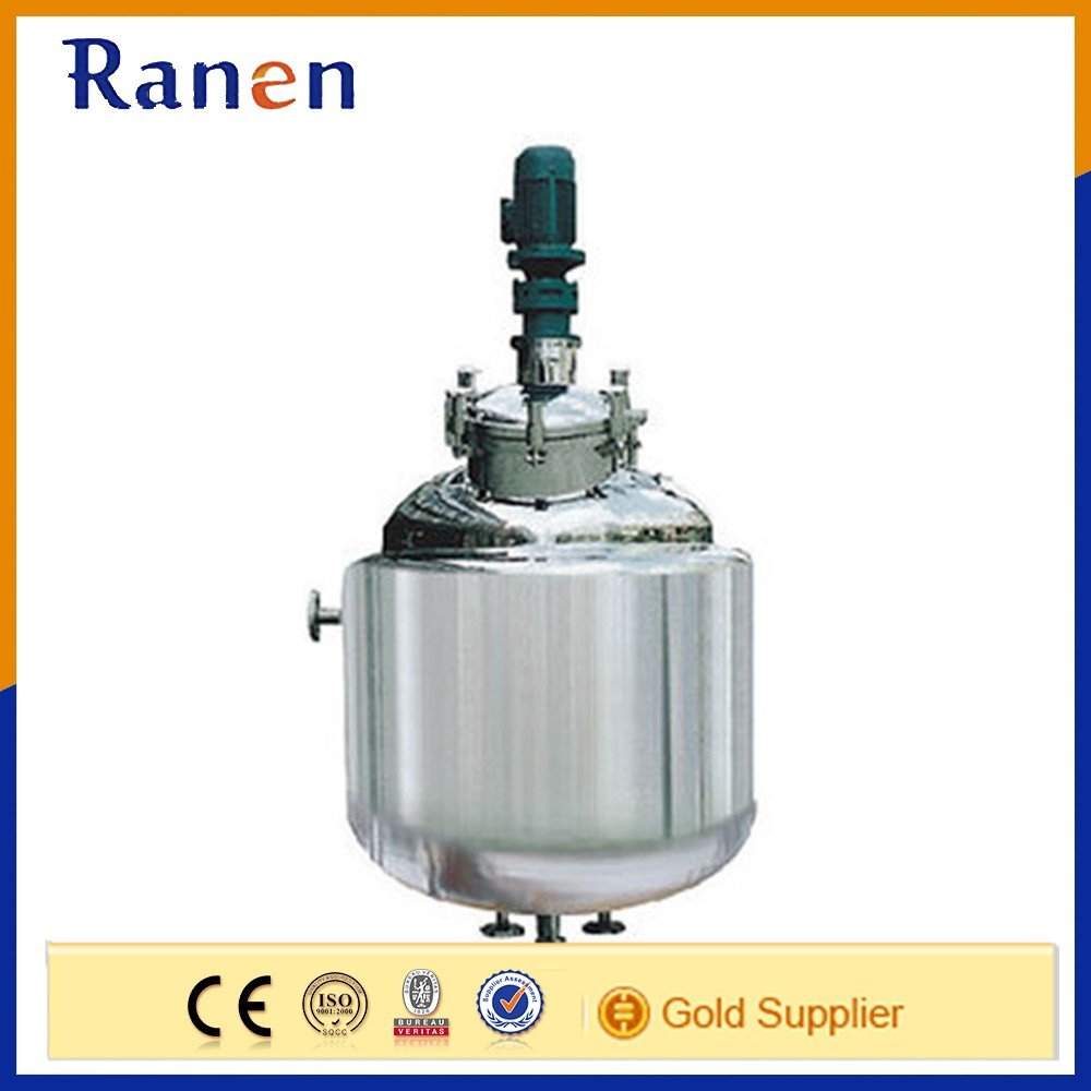 stainless steel double jacketed electric steam cooling and heating chemical mixing reactor
