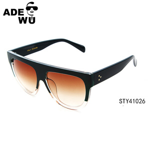 ADE WU italian design wide temple big eyes sunglasses free samples STY41026