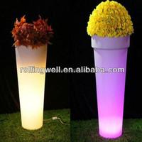 Home decoration Romantic led Flowerpot / home solar system / garden set