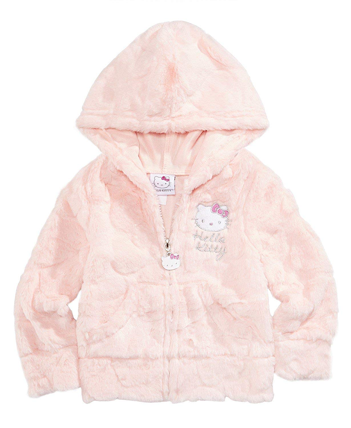 17014a244 Get Quotations · Hello Kitty Baby Girl Faux-Fur Zip-up Hoodie Jacket -Size  24 Month
