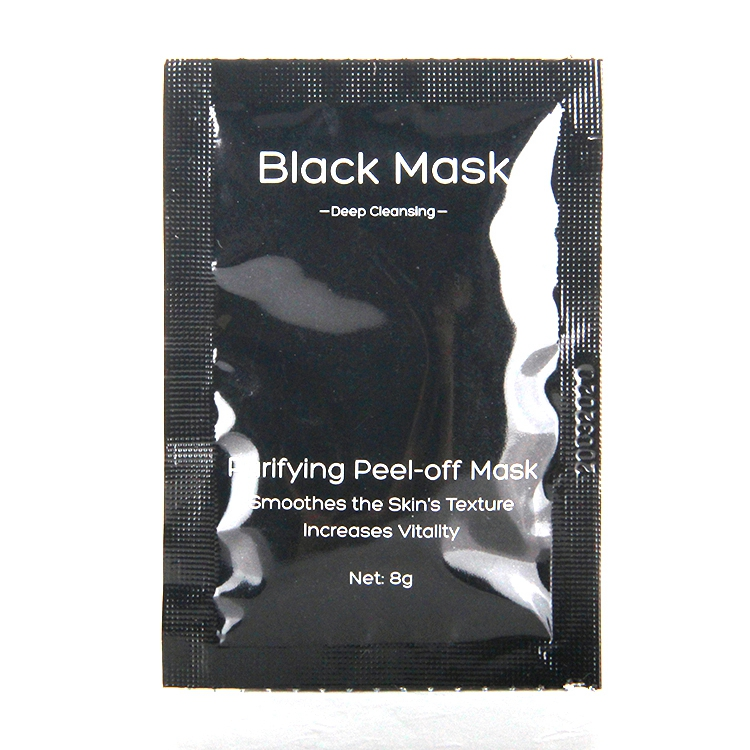 Tearing style bamboo charcoal blackhead peel off black nose strip 8g