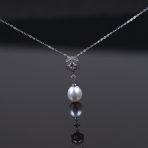 925 Sterling Silver Jewelry Freshwater Necklace Earrings Set