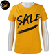 BSCI Apparel Design Services own print promotional brand printed yellow t shirt